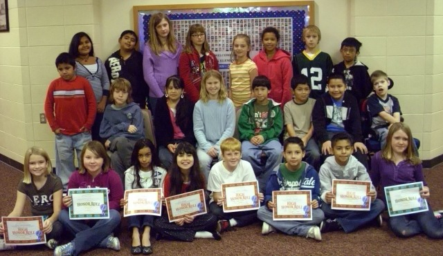 "Turtle Creek Fifth Grade ""A"" Honor Roll"