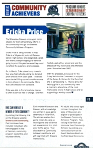 Erika Price in Brewers Program