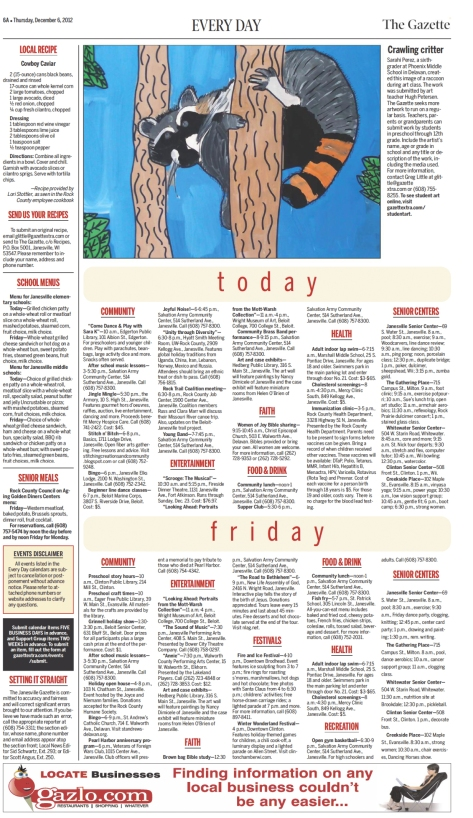 Sarahi Perez's artwork in the Janesville Gazette