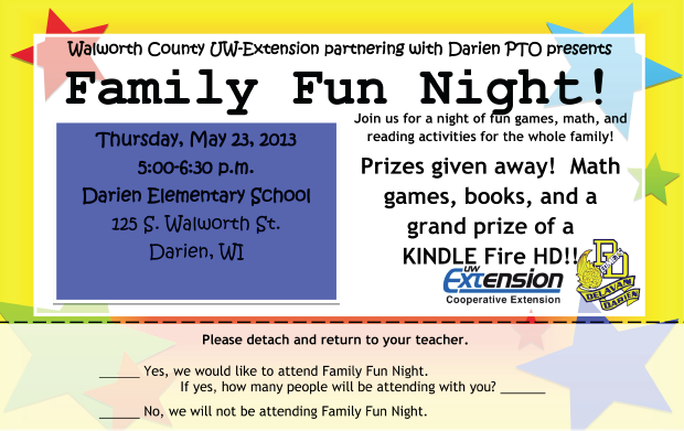 Darien Family Fun Night Flyer download
