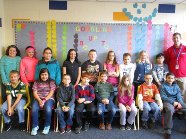 Mr. Kuenzi's fifth graders finished in second place in the box tops competition.