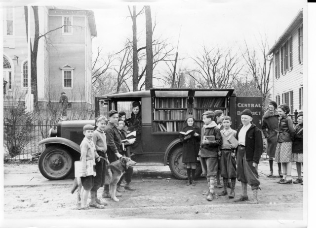 OK, so our bookmobile doesn't look exactly like this. Ours is much more modern, and our kids dress much differently now, too. But what a cool looking old bookmobile! We had to share it. They've stood the test of time because they promote literacy and reading, which are some of life's most important skills!