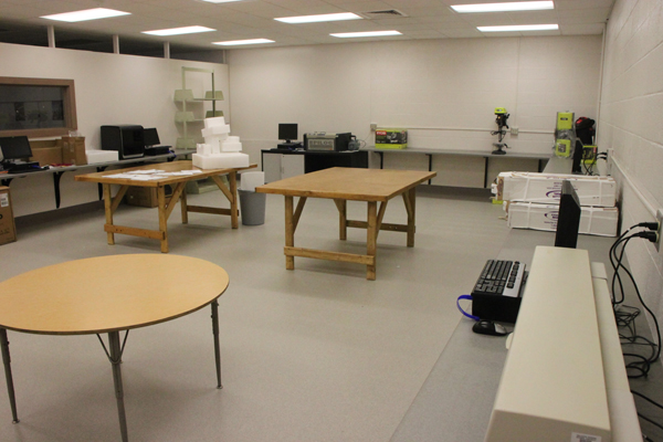 DDHS students and staff have been setting up equipment in the new Comet Creations FAB LAB.