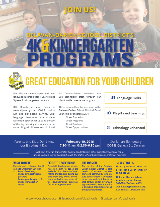 4K K Enrollment Flyer ENGLISH 2016