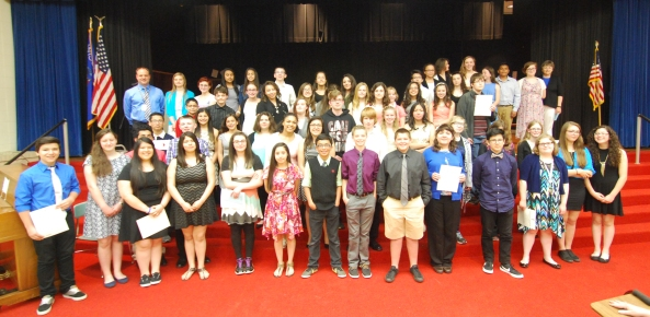 The 2015-16 Phoenix Middle School National Junior Honor Society members.